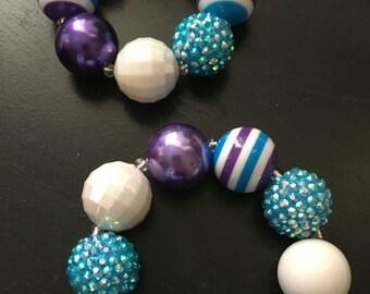 Purple & Blue Chunky Bracelet