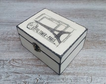 trinket box / business cards box/ Eiffel tower box