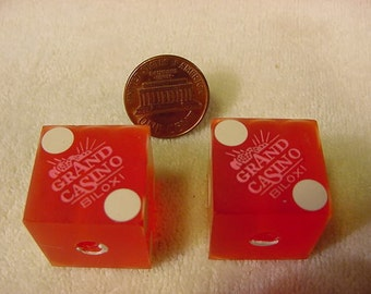Collectible vintage casino dice the joint hard rock casino