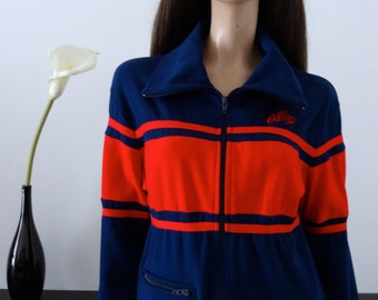 Veste vintage 70's ODLO of NORWAY taille 38/ uk 10 / us 6 /bleu/rouge/Collector/vintage/survetement/ jogging