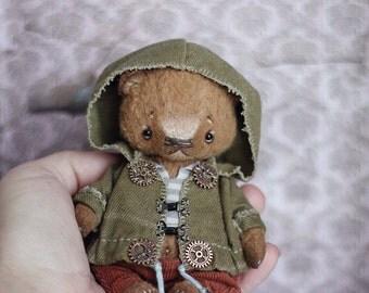 Teddy bear 12 cm 4,7in, little bear Vasya