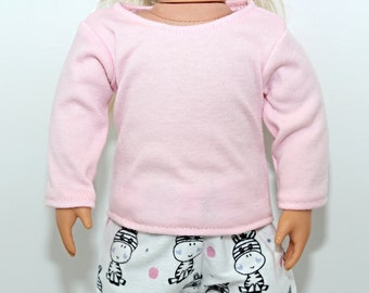 18 Inch Doll Light Pink Long Sleeve Shirt. Fits all 18 inch dolls. Shirt Also Fit 15 Inch Dolls. Doll Clothes
