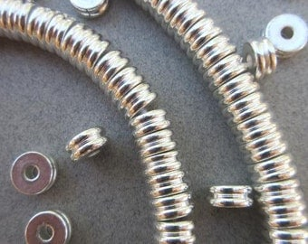 Fancy Silver Spacer Beads (8x4mm) [65242]