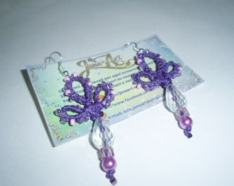 Clover earrings with pearls