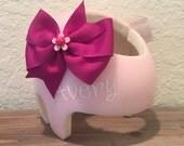 Handmade Helmet Bow (flower bow)