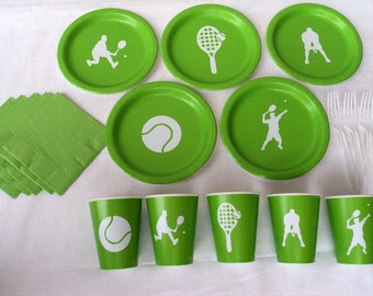 Tennis Party Tableware Set for 5 People (Boy or Girl)