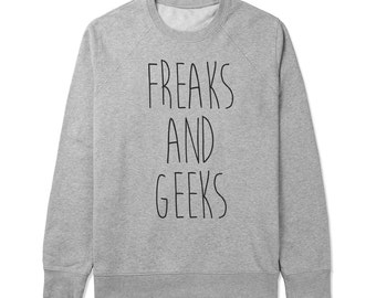Freaks and geeks - Gray/White Unisex Sweater - SWEATER-022
