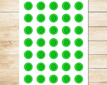 Incredible Hulk Sticker - Hulk Smash / Hulk Inchies / Hulk Party Favors / Hulk Party Supplies / Hulk Fist Logo / Superhero 1 inch