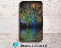 Samsung Wallet Phone Case -Peacock Phone Case for Samsung Galaxy S4 S5 S6 S7 Edge and Mini -Can add Monogram or Name