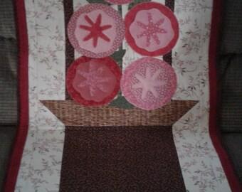 Flower basket wall hanging