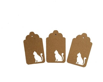 Sitting Cat Gift Tags