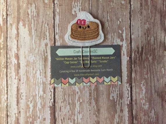 Pancakes Paper Clip. Pancake Planner Clip. Breakfast Planner Clip. Foodie Planner Clip