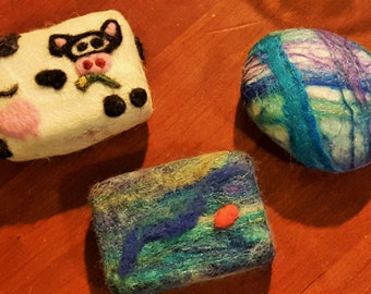 Original felted soap