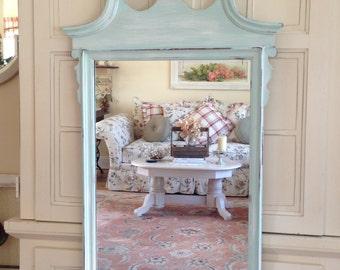 soldvintage shabby chic repurosed carved wood wall mirrorvanity mirror antique dresser framed leaning mirror shabby chic