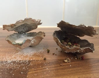 Silver salt and pepper oysters