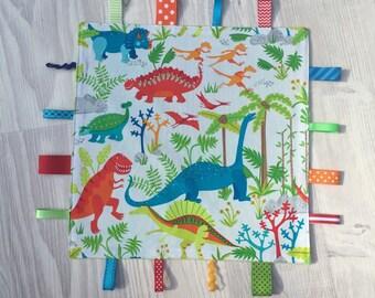 Dinosaur Stomp Tag Comfort Baby Blanket