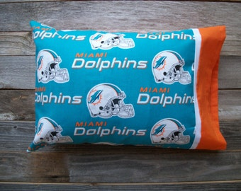 Dolphins Pillow/Miami Dolphins TRAVEL Size Pillow