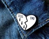 Original handmade Still Emo broken heart 3cm acrylic plastic lapel pin