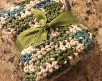 Crochet dishrags, Yarn dishrags, set of 3