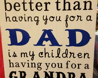 Wooden sign for dad