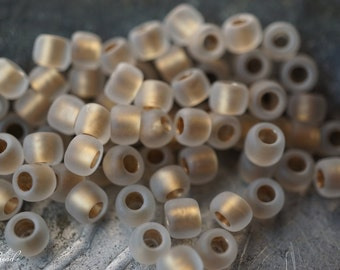 Heavenly Golden White, Sead Beads, Czech Beads, Beads, N2004