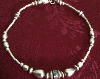 Sterling beaded bracelet . No two pieces alike. You design with me