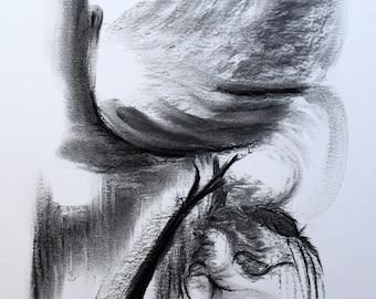 Birds V ...original charcoal drawing