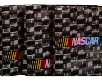 NASCAR Checkers with Charcoal Cornhole Bags