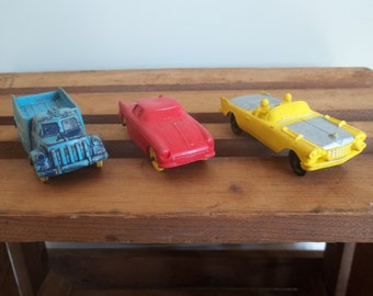 3 Auburn Rubber Company Toy Cars FREE SHIPPING