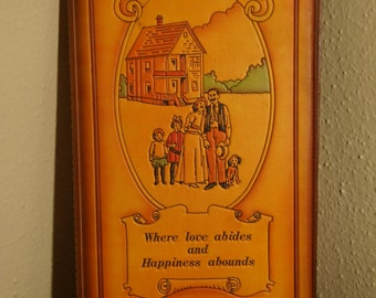 """Vintage """"The Family"""" Post Card Album/Album/ """"The Family""""""""Where Love Abides And Happiness Abounds"""""""