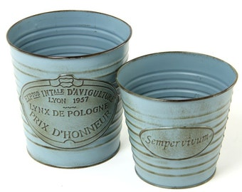 Galvanised Kew Garden Plant Pots, Perfect Garden Pot for Herbs, Flowers.