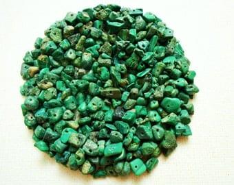 75 Malachite Gemstones, Bulk Beads, Jewellery Making Craft Supplies, Wholesale Stone Beads, SemiPrecious Stone Chip, Green Gemstone