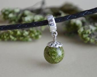 Funeral Flowers Memorial Dangle-Bead Charm, Memorial Jewelry, Memorial Beads, Wedding Gift, Bereavement, Funeral Flowers