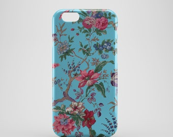 Blue Floral Phone case,  iPhone X Case, iPhone 8 case,  iPhone 6s,  iPhone 7 Plus, IPhone SE, Galaxy S8 case, Phone cover, SS132d