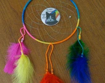 Rainbow Bridge Pet Memorial Dreamcatcher
