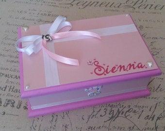 Baby Girl Personalised Keepsake Box