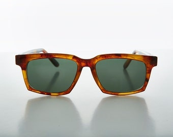 Thick Horn Rim Bold Black and Tortoiseshell Vintage Sunglass - Vic
