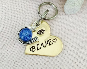 Personalized Handstamped Brass,Heart, Pony, Horse Bridle Tag, Bridle Charm