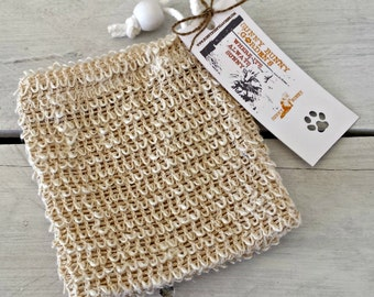 Sisal Soap Saver, Soap Sack, Soap Cozy, Sisal Exfoliating Soap Bag, Sisal Washcloth Pouch