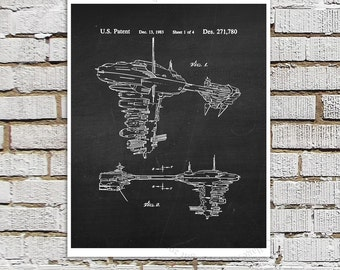 Star Wars print #15 Rebel Medic Ship Patent Poster, Star Wars Decor, Star Wars Boys Room Decor,  Star Wars Gift for Kids, Sci-Fi decor