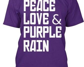 Peace, Love and Purple Rain Tee