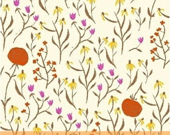 Clover Orange - Far Far Away - Heather Ross Windham Fabric Fat Quarters 100% cotton quilting dressmaking floral UK Shop