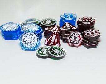 Acrylic Tokens Set - X-Wing Compatible