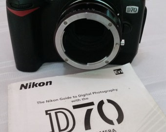 Nikon D70 Digital SLR Camera Body Only With Nikkor F Lens Extention - Real Nice