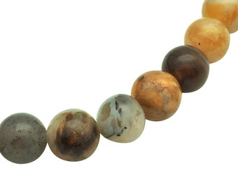 6mm Natural Bamboo Leaf Agate Beads Round 6mm Bamboo Agate 6mm Bamboo Beads Agate Raw Agate Loose Agate Lace Agate Beads Bamboo Agate Beads