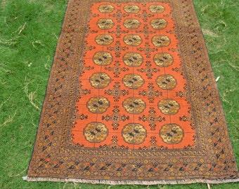 163 by 111 CM Vintage Akhal Gol Turoman Carpet