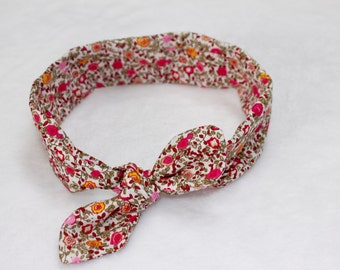 Baby Pink and orange flower headband