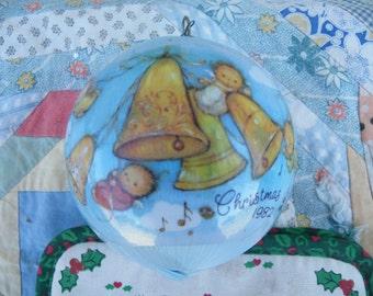 Vintage Satin Ornament, Hallmark Keepsake Ornament, Christmas 1982, Mary Hamilton Edition