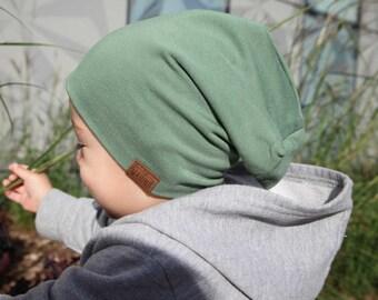 Bambeanie - Olive - Slouchy Beanie - Kids Slouchy Hat - Kids Hat - Kids Slouchy Beanie