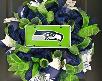 Seattle Seahawks Wreath; Seahawks; 12th Man; Football